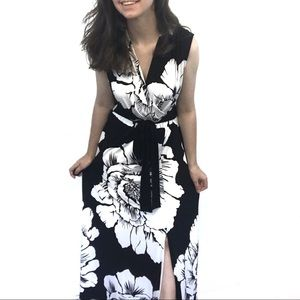 NY&C Black And White Floral Maxi Dress